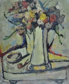 RONALDO NORONHA - (1938)    Título: Natureza morta  Técnica: óleo sobre tela  Medidas: 74 x 60 cm  Assinatura: canto inferior esquerdo