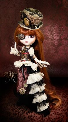 steampunkdolls | Details about Aurora Pullip doll STEAMPUNK PROJECT ECLIPSE Groove Inc
