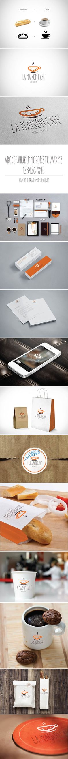La Maison Cafe' by Mahmoud Alkhawaja, via Behance #cafe #identity #packaging #branding PD