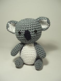Crocheted Koala Bear @Courtney Shelton can you make this for me? LOL I have no clue who @courtney shelton is if you see this Courtney like it so I know who you are