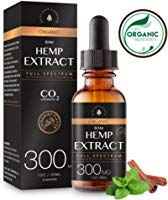 Organic Raw Hemp Extract for Pain & Anxiety Relief (300MG), Cinnamint Flavor, Full Spectrum, Blended with Organic Hemp Seed Oil For Optimal Absorption, CO2 Cold Extracted, Rich in MCT Fatty Acids, 1oz