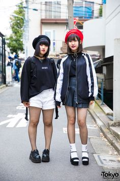 Anna and Hinata - both 16 years old - on the... | Tokyo Fashion