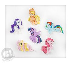 My Little Pony; Friendship is Magic cake toppers
