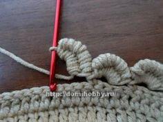 Tying scalloped crochet edge ༺✿ƬⱤღ✿༻