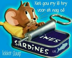 Tom Et Jerry, Good Night Sleep Tight, Goeie Nag, Goeie More, Good Night Quotes, Afrikaans, Cute Quotes, Scooby Doo, Christmas Ornaments