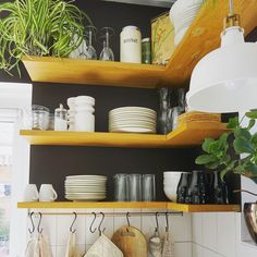 Kitchen Shelf Unit, Floating Shelves, Instagram, Home Decor, Decoration Home, Room Decor, Wall Shelves, Home Interior Design, Home Decoration