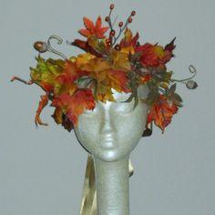 fairy autumn woodland   Autumn Woodland Faerie Crown - Adult Fairy Crown - headpiece for Fall ...