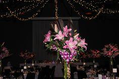 Wedding styling at The Cargo Hall South Wharf.  #pink #purple #lilac Amos and Smith floral stylists. #weddingplanner #melbourneweddings #weddingreception #weddingstyling www.belleweddings.com.au