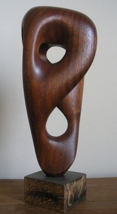Sam Soet's abstract wood sculpture.  samsoetart.com