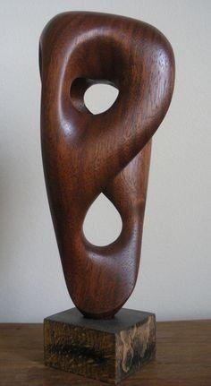 Sam Soet's abstract wood sculpture.  samsoetart.com
