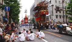 Gion Matsuri - Kyoto. Japan's most famous festival. It takes place in July with all kinds of festivities, but the main stuff takes place from the 14-17. It's a blast! Make sure you dress up in yukata for the celebration.