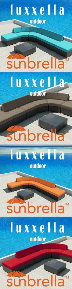 Sunbrella Luxxella Modern Patio Furniture