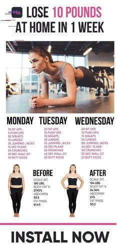 Lose 10 Pound At Home In 1 Week - Fitness - Pilates Fitness Pal, Fitness Workouts, Abs Workout Routines, Pilates Workout, Fitness Tracker, Health Fitness, Ab Workouts, Cardio, Elliptical Workouts