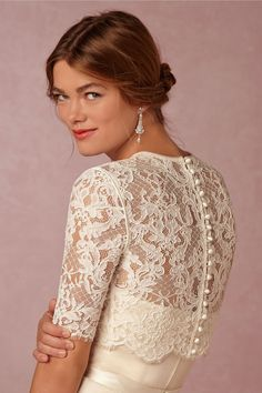Dasha Topper in Bride Bridal Cover Ups at BHLDN