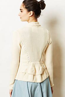 Ruffled Duster Sweater - anthropologie.com