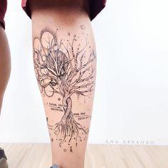 """3,729 Gostos, 70 Comentários - © Ana Abrahão (@abrahaoana) no Instagram: """"Á R V O R E. D E. G A T T A C A """"I never saved anything for the swim back."""" Esta é uma tatuagem que…"""""""