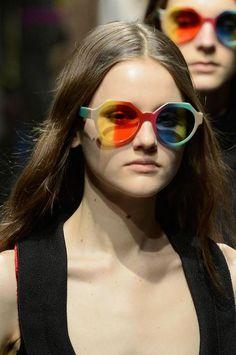 Marco de Vincenzo's rainbow sunglasses