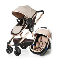 Luxury Baby Stroller 3 in 1 High Landscape Baby Carriages Pram – T A Y Online Store