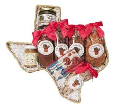 Have a pecan lover on your gift list?  The Taste of Texas Pecan lovers gift basket is perfect for them.  This Texas state shaped gift basket is filled with delicious Texas pecans and pecan flavored items.