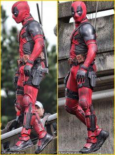 BERIAH NG.: MOVIE: Ryan Reynolds On The Set Of DEADPOOL