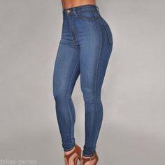 JP Women Fashion High Waist Jean Pants Ladies Skinny Slim Stretch Denim Pants