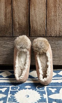 Coyote Slippers - Plümo Ltd not really coyote fur thank goodness
