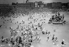 McCarren Pool in Greenpoint, Brooklyn. Hey is that me there!  jc
