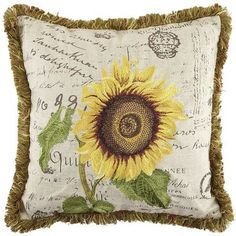 Sunflower Pillow, Pier 1. Maybe cute for the living room, take things in a different direction.