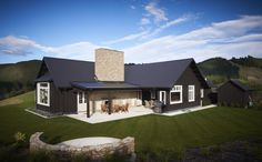 Black house love - the Poplars house in NZ