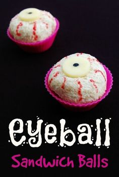 How to make eyeball sandwich balls - great fun food for Halloween lunches or healthy Halloween party food idea for kids! - easy recipe / tutorial from Eats Amazing UK