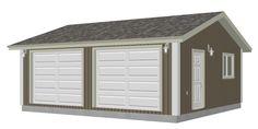 G528 24 x 22 x 8 Garage Plan PDF and DWG | SDSPlans Blueprints and Plans