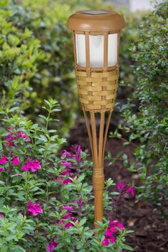 Paradise by Sterno Home Solar-Powered LED Bamboo-Finish Torch Light Power Led, Solar Power, Garden Path Lighting, Paradise Garden, Solar Lanterns, Path Lights, Torch Light, Pewter, Bamboo