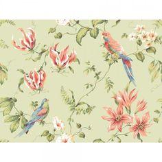 Casabella Tropical Floral Wallpaper - Wallpaper