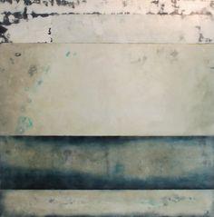 "Haze-09-48""x48"", encaustic, oil on panel"