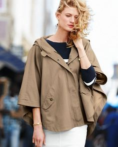 Hooded Swing Trench Coat