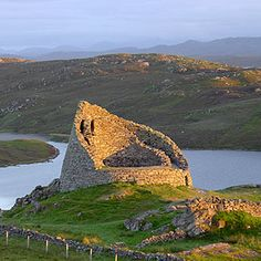 Dun Carloway, or Dun Charlabhaigh, is a remarkably well preserved broch in a stunning location overlooking Loch Roag on the west coast of Lewis--   Outer Hebrides Islands, Scotland  Google Image Result