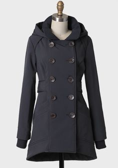 Jasper Winter Coat By Three Stones: Winter ready and looking fab- I like the double breasted line of buttons.