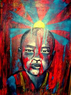 Peinture FREE TIBET
