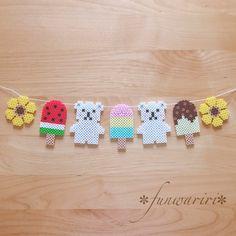 ☆季節の飾り・夏☆しろくまさんのアイスガーランド☆ | ハンドメイドマーケット minne