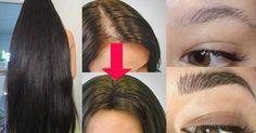 Receita caseira para fazer a sobrancelha, cílios e o cabelo crescer mais rápido e saudável.