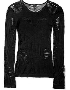 Seamless Cobweb Long Sleeve Top  by McQ Alexander McQueen