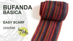 Crochet Patterns Wear Tutorial Crochet or Crochet Easy Scarf (Beginner Level) . Knit Slippers Free Pattern, Knitted Slippers, Knitted Hats, Crochet Winter, Love Crochet, Knitting Videos, Crochet Videos, Crochet Scarves, Crochet Shawl