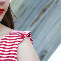 Adelanto del post de mañana!! Un #outfit #handmade de estilo #navy muy
