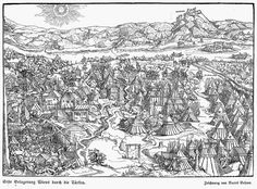 Siege Of Vienna, 1529. Suleiman invested the city with an army of over 100,000 troops. Arriving late in the campaign season (late August-early September), he launched a last desperate attack on October 12.  After it failed early heavy snow forced the Turks to withdraw southward.