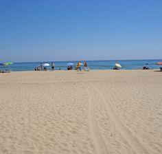 Playa del Hoyo en Isla Cristina (Huelva).