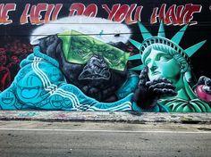 La censura de la muerte de la libertad ☠️ Wynwood, Miami 🇺🇸 @sipros_sipros @ivanisforeverlost @miaminate @aquarelaart @grafftoyz @heconelove @illsurge @urbanruben @golden305 @miroizm @thebushwickcollective @manaurbanartsprojects #streetartchilango #streetartusa #streetart