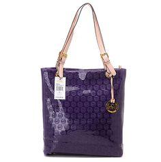 144968246f49 Michael Kors Jet Set Monogram Embossed Leather Tote Royal Purple Street  Style Store, Michael Kors