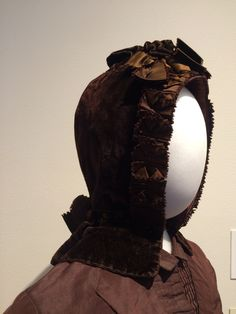 Wedding bonnet worn by Rosa H Moyer on her wedding day in 1887