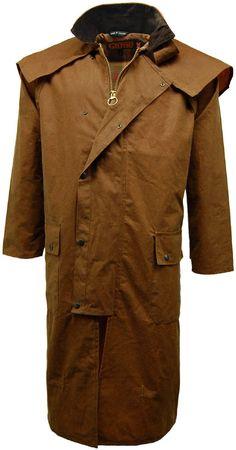 Herren Mantel 100% Baumwolle Gewachst Langes Cape Reiter Mantel Jacke: Amazon.de: Bekleidung