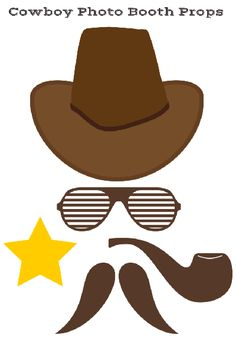 free printable baby shower cowboy photobooth props